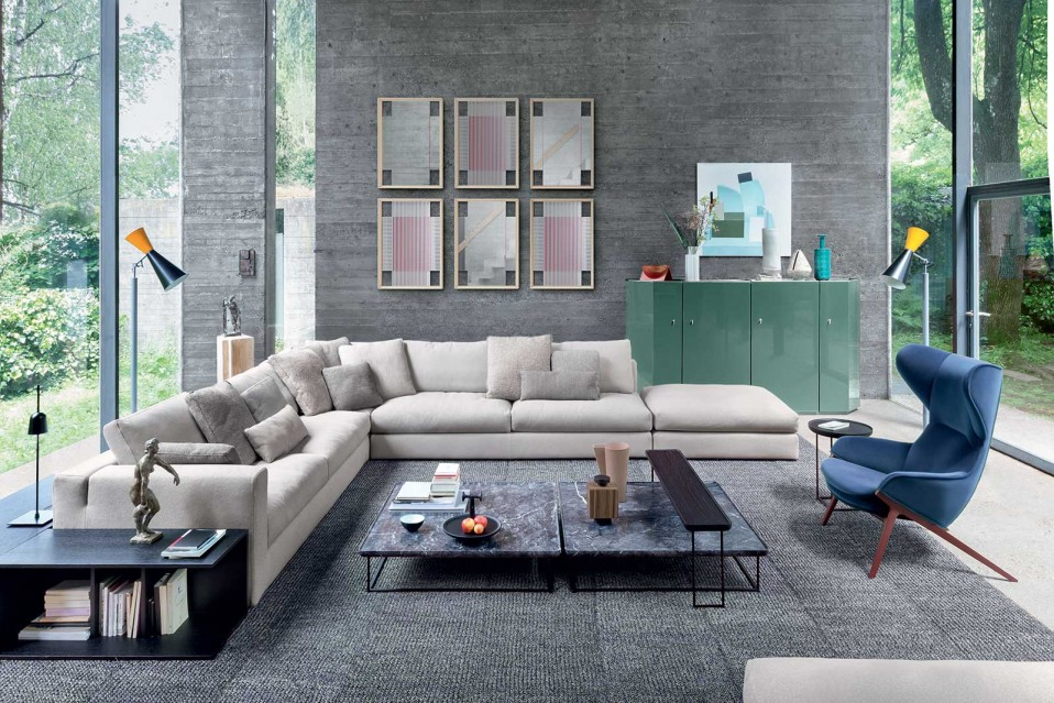 cassina miloe sofa piero lissoni casa bella home casabella. Black Bedroom Furniture Sets. Home Design Ideas